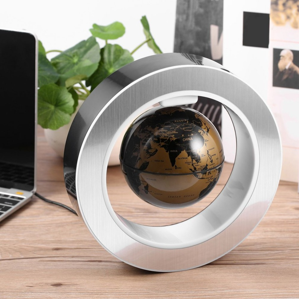 Magnetic Floating Globe LED Floating Tellurion Levitating Geography globe world map best gift for children home office decor 1pc 32cm world globe map ornaments with swivel stand home office office shop desk decor world map geography educational tool