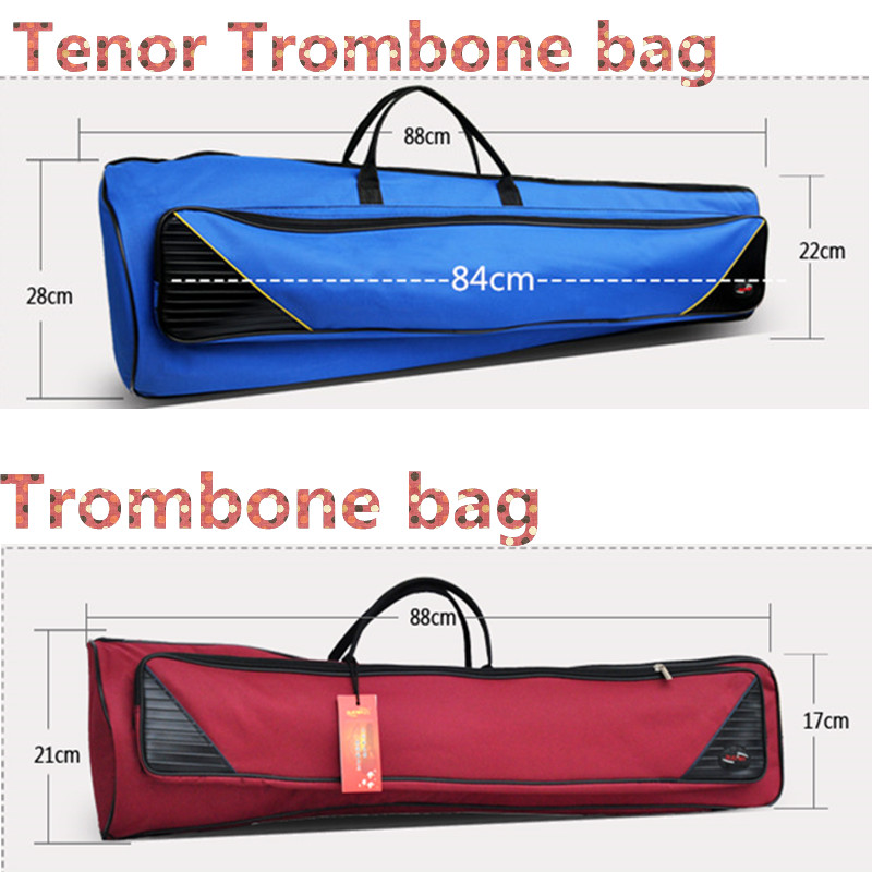 Trombone bag tenor trombone case gig case thick musical instruments backpack Adjustable Shoulder Straps Pocket 10mm padded marcinkiewicz proline contrabass trombone mouthpiece 106