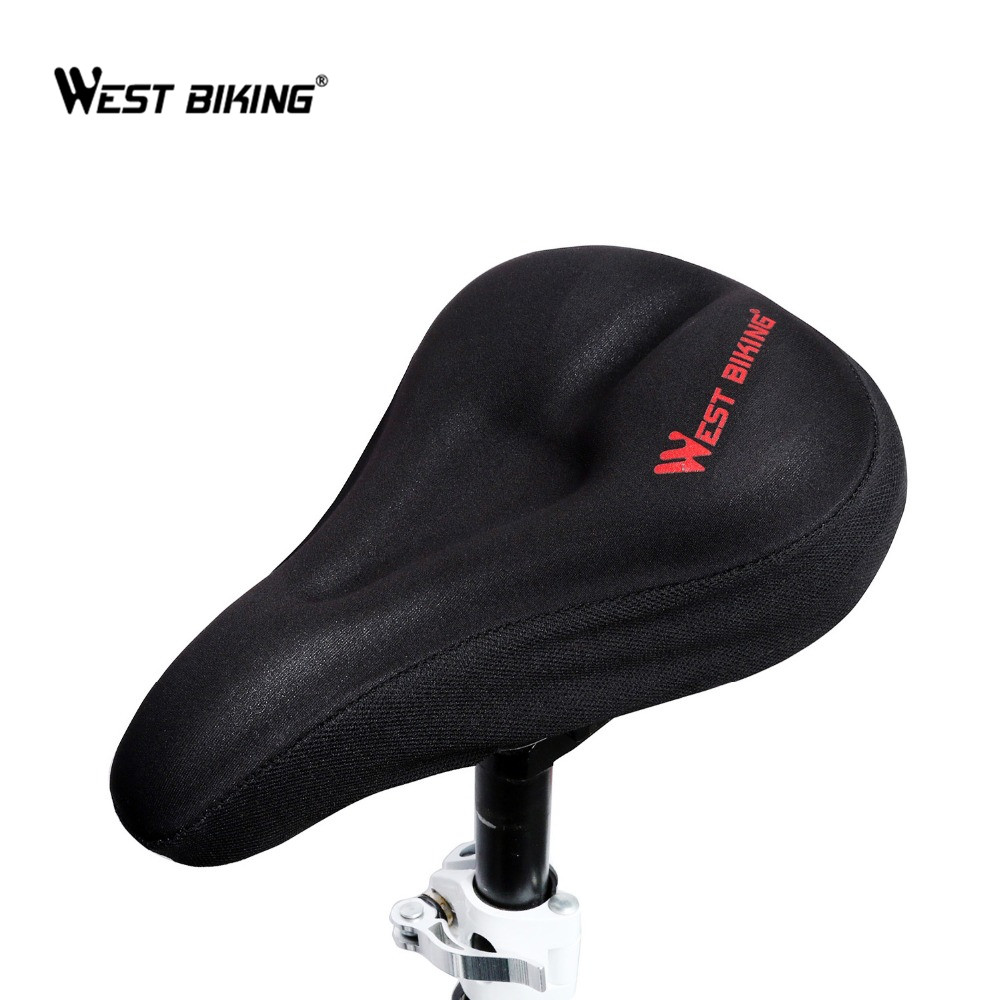 WEST BIKING Mountain Bike Comfortable Saddle Cushion Road Bike Bicycle High-Elastic Breathable Cushion Cover