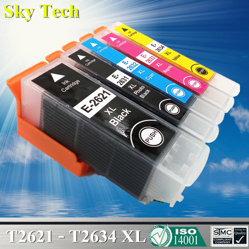 26XL Compatible Cartridges For T2621 T2631 - T2634 , For <font><b>Epson</b></font> <font><b>XP</b></font>-510 <font><b>XP</b></font>-520 <font><b>XP</b></font>-600 <font><b>XP</b></font>-<font><b>610</b></font> <font><b>XP</b></font>-620 <font><b>XP</b></font>-700 <font><b>XP</b></font>-710 <font><b>XP</b></font>-800 <font><b>XP</b></font>-810 image
