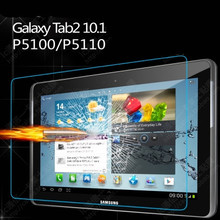 9H Tempered Glass Screen Protector Film for Samsung Galaxy Tab 2 10.1 P5100 P5110 P5113 + Alcohol Cloth + Dust Absorber