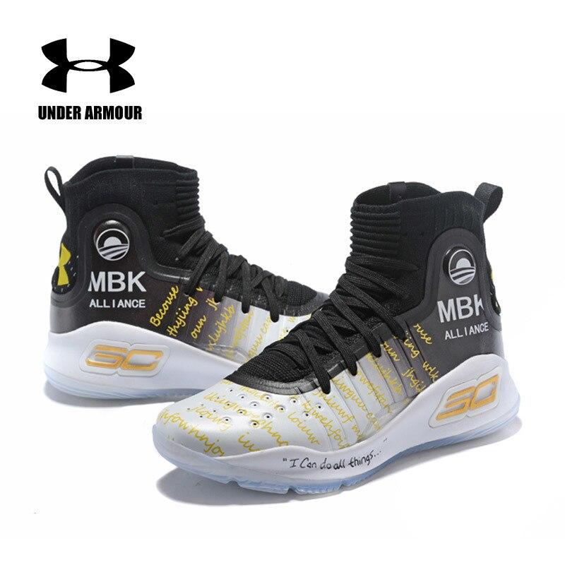 Offre spéciale sous armure chaussures pour hommes UA Curry 4 chaussures de basket homme zapatillas hombre baskets hommes amorti chaussures de Sport