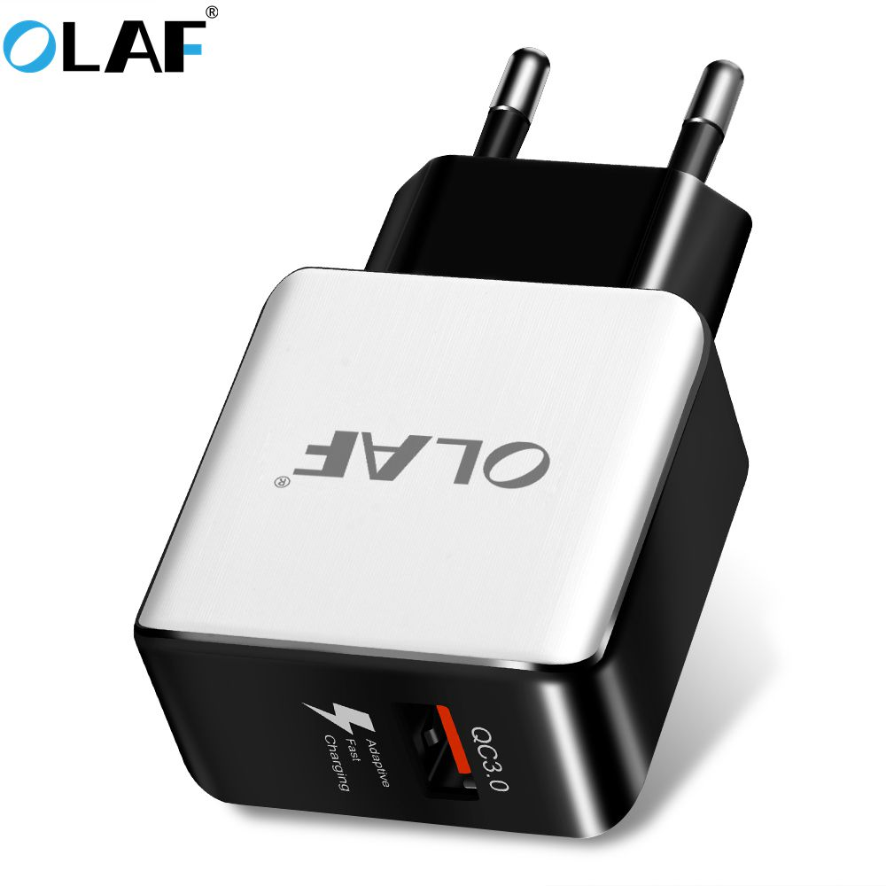 Olaf Quick Charge 3.0 USB Phone Charger EU Plug Fast Travel Wall Adapter for iphone 8 samsung S9 S8 Xiaomi Tablets USB Chargers