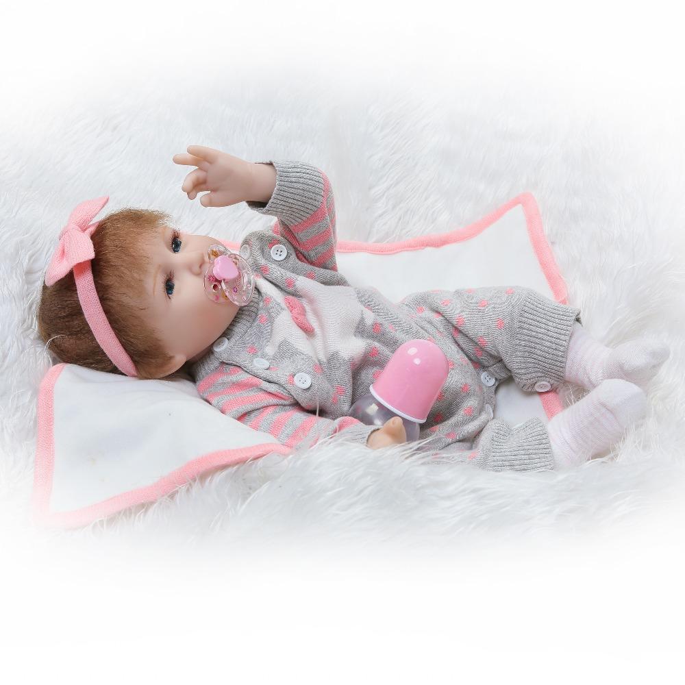 NPKCOLLECTION  Hotsale lifelike reborn baby doll soft real touch vinyl silicone Christmas gift beautiful doll for Children's Day npkcollection reborn doll vinyl silicone soft real gentle touch doll beautiful gift for kis on birthday and christmas