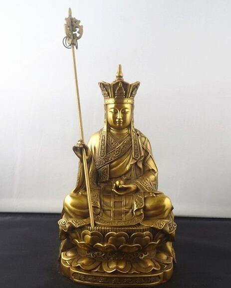 Китайский Бронзовый Ksitigarbha статуя бодхисаттвы 8 высокий