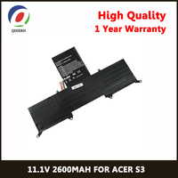 QINERN 11.1V 29WH Laptop Battery For ACER Aspire S3 391 6862 S3 951 Pour ACER Notebook Batteries For Aspire S3 951 72634G52nss