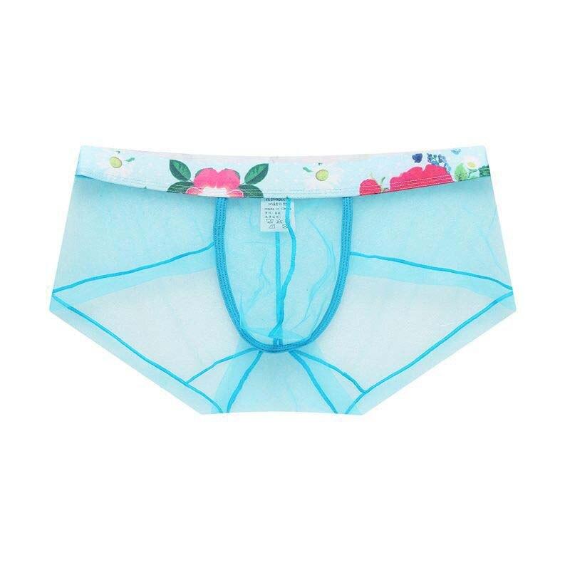 Men Underwear Boxers Sexy Mesh Transparent Men Boxer Underwear Gay Low waist Underwear Shorts Boxer Slip Homme Panties in Boxers from Underwear Sleepwears