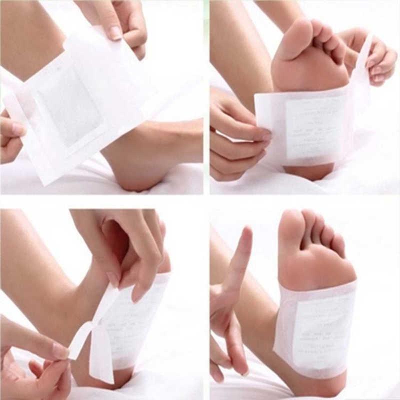 LAMILEE Artemisia Argyi de desintoxicación pie parches pastillas toxinas pies de limpieza de la salud del cuerpo Almohadillas Adhesivas 10 piezas a granel