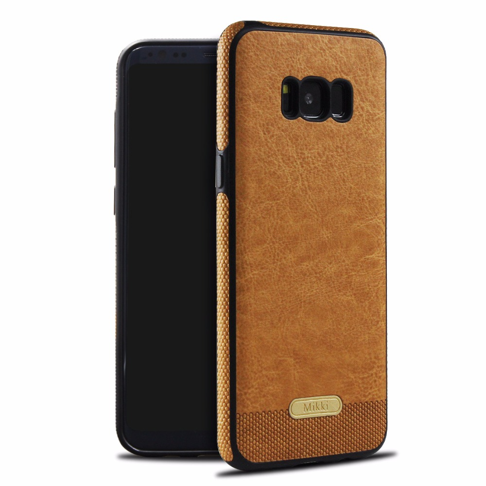 Business Retro Coque For Samsung Galaxy S8 S8 Plus S7 Edge S6 Edge Note 8 Case Luxury TPU Leather Cases For Samsung S9 Plus Case