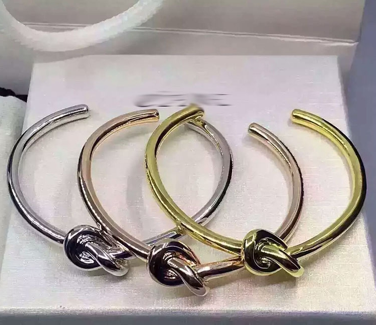 925 Sterling Silver Vintage Tie Knot Bracelet Bangles Simple Twist Open Bangles For Women Indian Jewelry Costume Jewellery