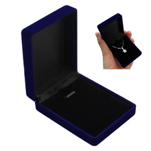 Shellhard Jewelry Packaging Display Vintage Velvet Plastic Blue Ring Bracelet Necklace Box Women Weeding Accessory
