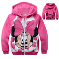 Children Girls Minnie Sweatshirts Kids Boy Hoodie Spring Autumn Long Sleeve