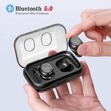 Новые Bluetooth 5,0 мини беспроводные Bluetooth наушники спортивные наушники TWS-8 стерео бас гарнитура с двойным микрофоном