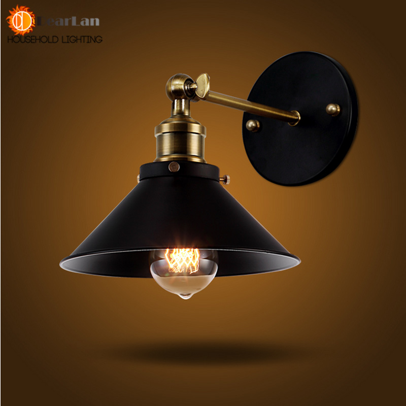 American Vintage Wall Lamp Indoor Lighting Bedside Lamps Retro Wall Lights For Reading Room Bedroom Home Free Shipping(BG-64) american vintage wall lamp for indoor outdoor lighting retro industry wall lights with edison bulb for bedroom black 220v e27