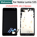 CT2S1973FPC-A1-E version For Microsoft Nokia lumia 535 LCD Display Touch Digitizer Screen Assembly Frame + Tools