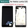 Versión para microsoft nokia lumia 535 ct2s1973fpc-a1-e lcd display de pantalla táctil digitalizador asamblea frame + herramientas