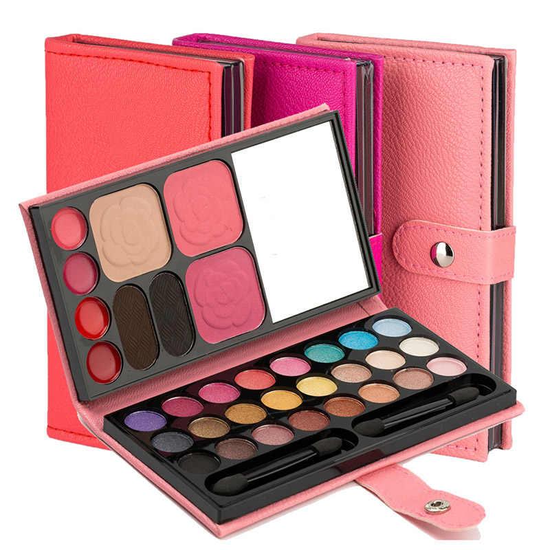 צללית צבעים 33 צבעים לאורך זמן סומק שפתון גבות אבקת נייד עבור נשים FM88