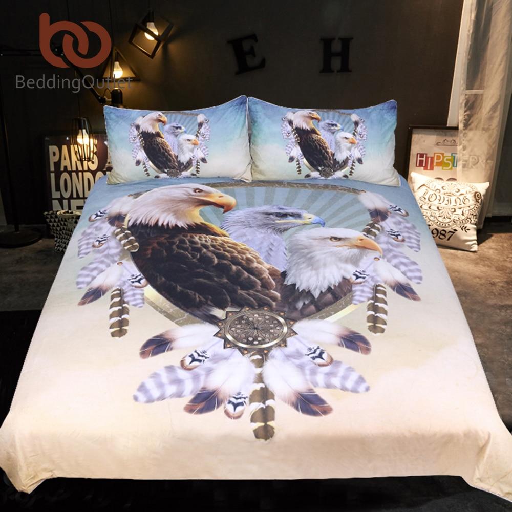 Ropa de cama tres Eagles Ropa de cama tamaño queen plumas ...