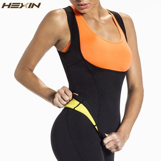 HEXIN בתוספת גודל Neoprene זיעה סאונה גוף מעצבי אפוד מותניים מאמן הרזיה אפוד Shapewear מעצב מותניים הרזיה מחוך