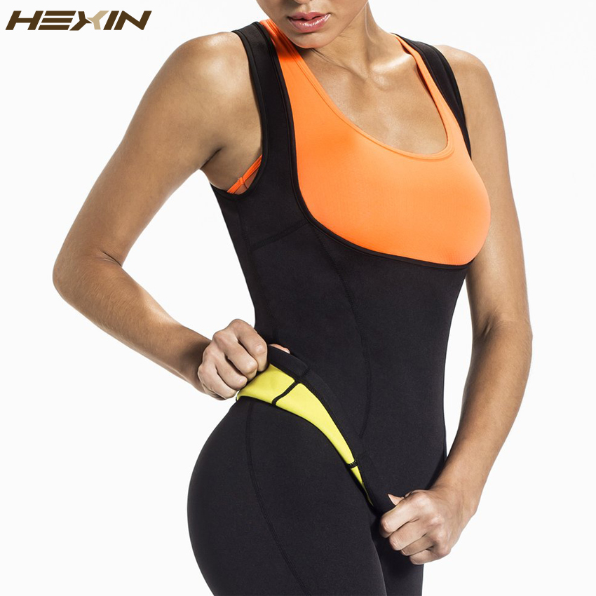 HEXIN Plus Size Neoprene Suor Sauna Shapers Do Corpo Quente Colete Trainer Cintura Emagrecimento Perda De Peso Da Cintura Colete Shapewear Shaper Espartilho