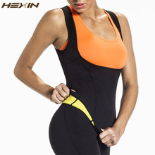 HEXIN Plus Size Neoprene Sweat Sauna Hot Body Shapers Vest Waist Trainer Slimming Vest Shapewear Weight Loss Waist Shaper Corset cheap Women Polyester Spandex Cotton Tops 1701456 None Satin Firm Thin OEM Service Wholesale Retail Within 1-3 Working Days Shrink the waist