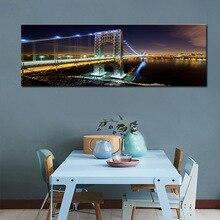 HD Print Brooklyn Bridge Skyline Night Canvas Painting