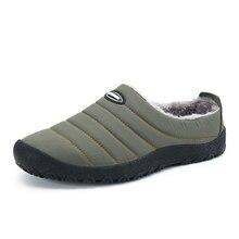 Christmas Winter Shoes Men Warm Home Slippers Indoor Flip Flops Waterproof Outdoor Flat Slides Zapatos De Hombre