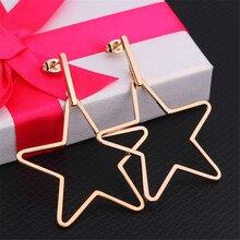 Fashion earring pendants star women jewelry Square Stainless Steel geometric Earrings men accessories female male gifts