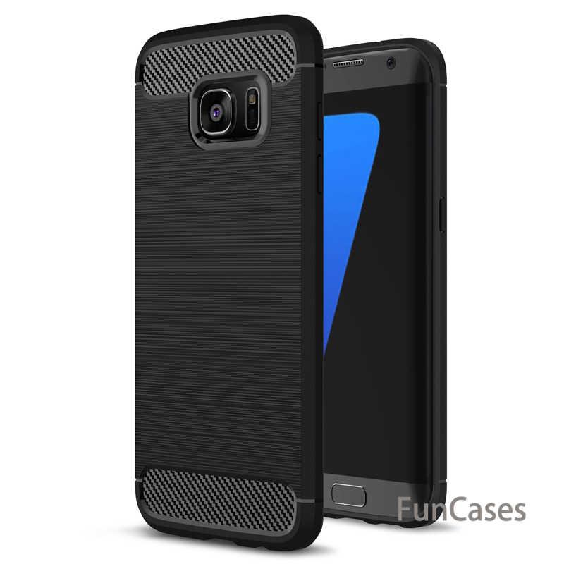 Ochronny TPU krzemu skrzynka dla Samsung Galaxy A3 A5 A7 2017 J5 2016 J7 S6 S7 krawędzi S8 Plus grand Prime miękka TPU tylna pokrywa