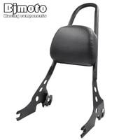 BJMOTO Solid Steel Metal Passenger Backrest Pad Sissy Bar Cushion For Harley Sportster XL 883 1200