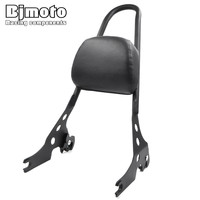 BJMOTO Solid Steel Metal Passenger Backrest Pad Sissy Bar Cushion For Harley Sportster XL 883 1200