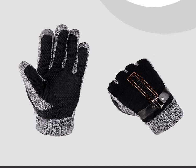 GLV933 Men s leather winter warm font b gloves b font skiing outdoor ride bicycles anti