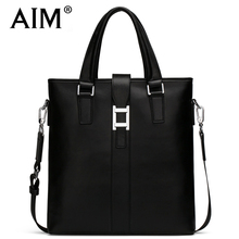 AIM Luxury Men Leather Shoulder Bag Fashion Brand Men Business Handbag Men's Dress Crossbody Messenger Bags Laptop Briefcase