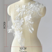 1Piece Ivory Floral Bridal Veil Lace Trim Wedding Fabric Applique Three Sizes To Choose High Quality