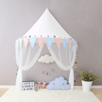 2017 Boys Girls Canopy Tent with Hanging Mosquito Net Portable Crib Tent Bed Curtain Kids Room & Online Shop Nordic Baby Canopy Beds Kids Play Tent Princess Pink ...