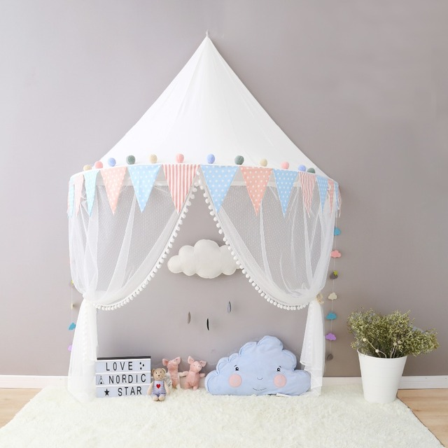 2017 Boys Girls Canopy Tent with Hanging Mosquito Net Portable Crib Tent Bed Curtain Kids Room & 2017 Boys Girls Canopy Tent with Hanging Mosquito Net Portable ...