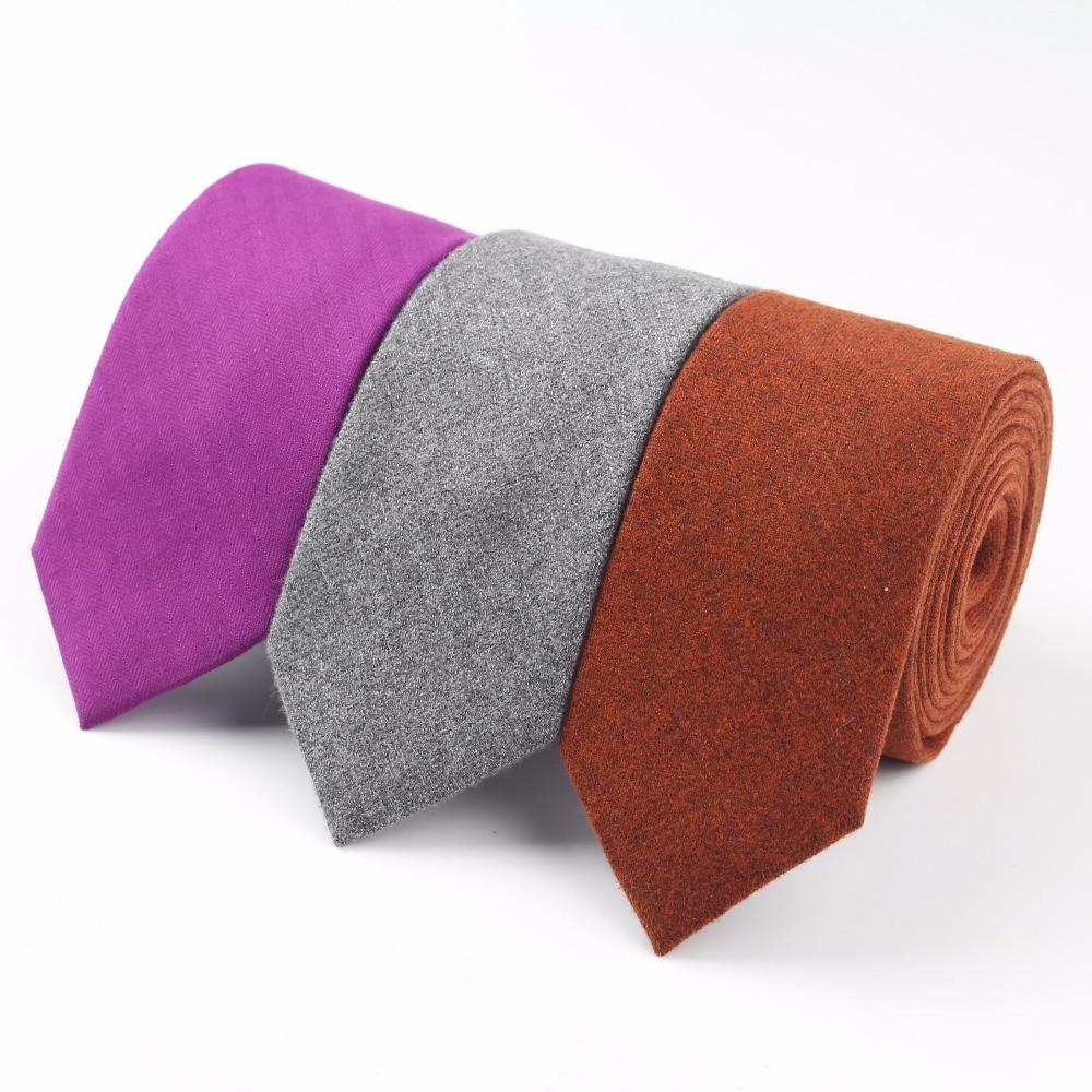 Soft Mens Fashion Diamond Check Artificial Wool Cotton Solid Skinny Ties Men Business Small Ties Designer Cravat