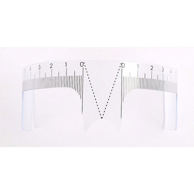 1pcs Reusable Eyebrow Grooming Stencil Shaper Ruler Measure Tool Makeup Eyebrow Ruler Tool Measures 1