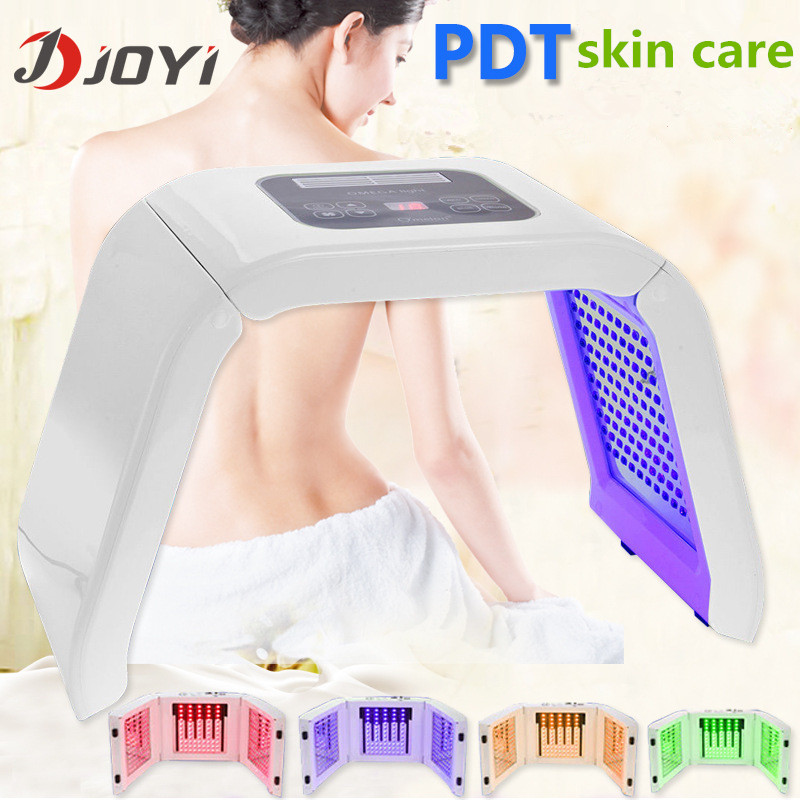 2016 portable pdt led photon light therapy facial rejuvenation blue light acne removal beauty care machine rechargeable pdt heating led photon bio light therapy skin care facial rejuvenation firming face beauty massager machine