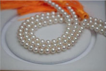 noble women gift 48INCH 14K GOLD CLASP HUGE Genuine AAA+ 10-11mm Natural south sea white pearl necklace good luster