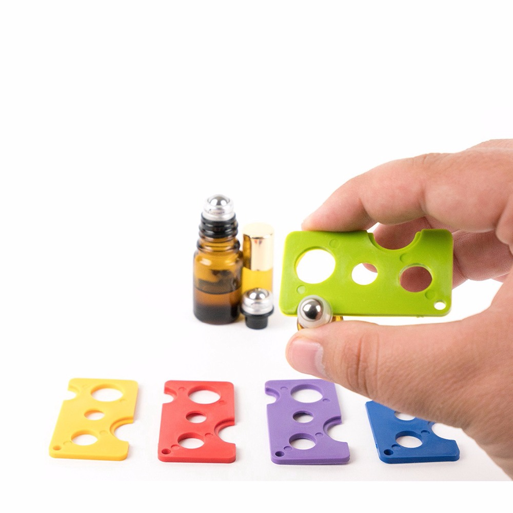 1pcs Essential Oil Bottle Swiss Key Roller Bottle Opener Accessory Remove Roller Caps Orifice Reducer Inserts On Essential Oils