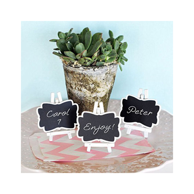 3pcs Framed Chalkboard Place Cards with Easel Small Blackboard Mini ...