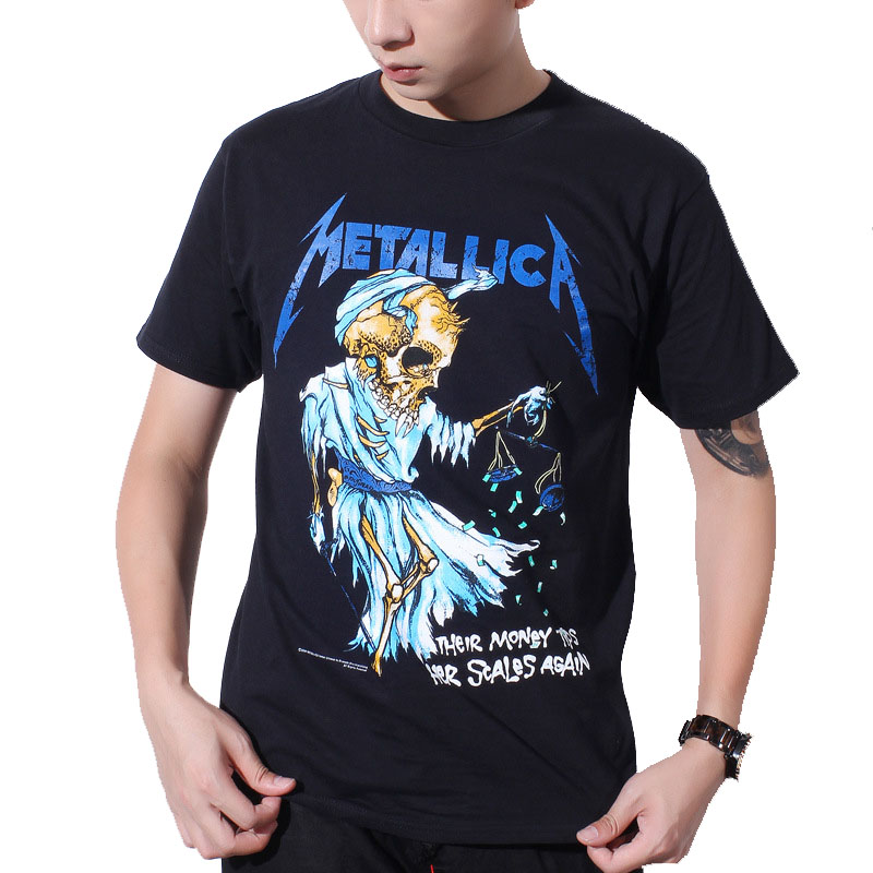 justin bieber metallica t shirt black cotton t shirt fear. Black Bedroom Furniture Sets. Home Design Ideas