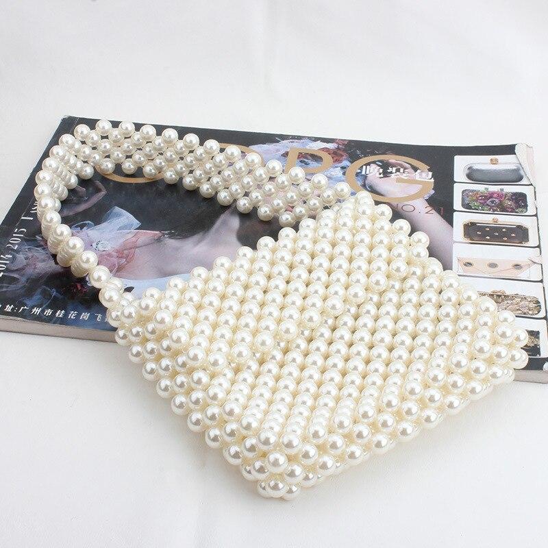 Sacs pour femmes Vintage perles sac à main 2019 à la mode rétro Chic Top poignée sac femme petite taille perles classique élégant fourre-tout sac