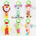 New Baby Toys Rattle My First Tinkle Trio Hand Bell Multifunctional Plush Toy Stroller Mobile Gifts WJ148