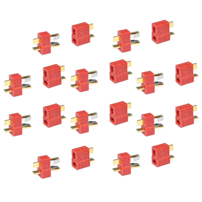 10pairs XT plug T plug Dean Connector For ESC Battery 10 male and 10 female 2015 hot 10 pair connector t plug male female esc battery