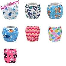 Happy Cherry Summer Baby Boys Girls TPU Swim Diaper Training Pants Cute Cartoon Toddler Adjustable Swimming Nappies 3 size