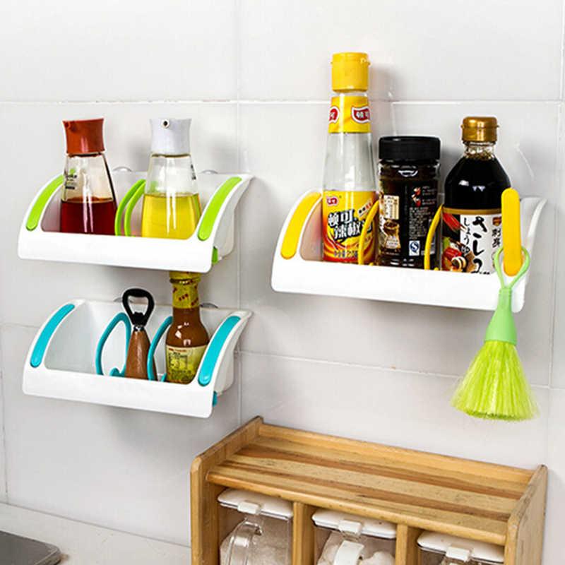 Кухонная полка для раковины губка сушилка для бутылочка для заправки подставка для различных предметов Sucker настенная полка ванная мыло Косметика Органайзер