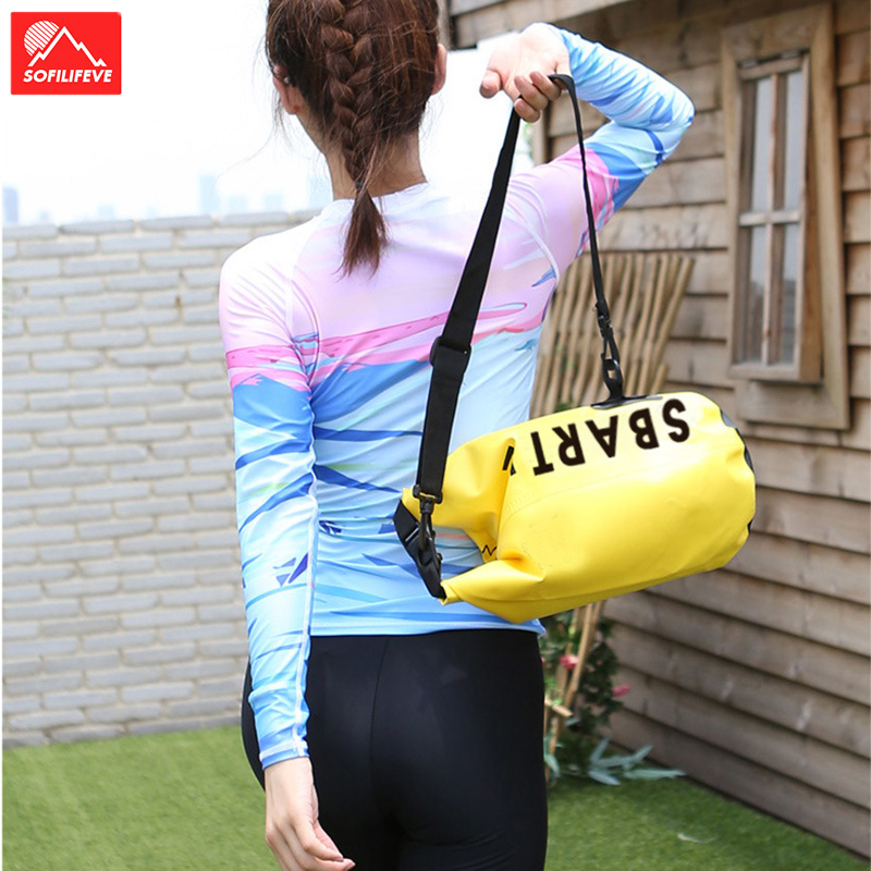 Waterproof Beach Dry Bag With Water Resistance Swimming Kayaking Boating Shoulder Bag Camping River Light Swim Foating Pack