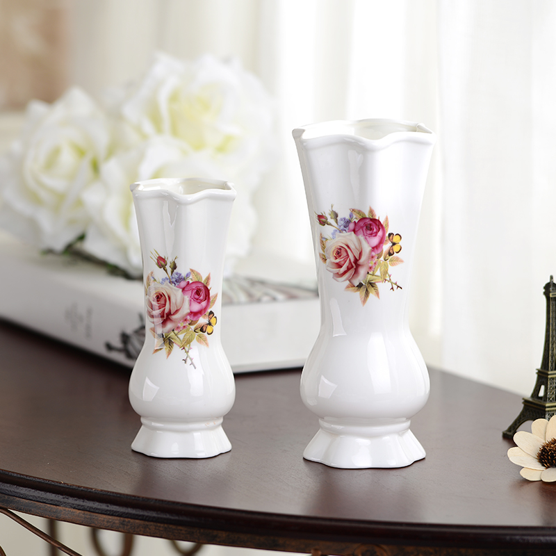 Luxury european style modern fashion white ceramic vase for Modern living room vases